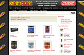 Smoothie D's Online Supplement Shop - Temple, Texas